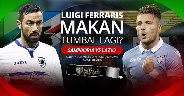 Prediksi Bola : Sampdoria Vs Lazio , Senin 04 Desember 2017 Pukul 02.45 WIB
