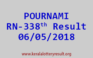 POURNAMI Lottery RN 338 Result 06-05-2018