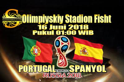 AGEN BOLA ONLINE TERBESAR - PREDIKSI SKOR PIALA DUNIA 2018 PORTUGAL VS SPANYOL 16 JUNI 2018