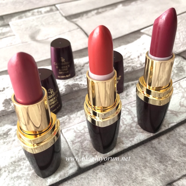 golden rose perfect shine lipstick 240 225 239 numaralı rujlar