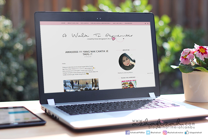 Template Blog Responsive & Design Header Kisahlynna