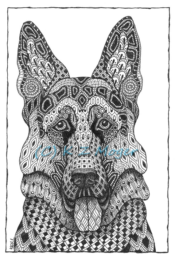 13-German-Shepherd-Kristin-Moger-Domestic-and-Wild-Zentangle-Animal-Portraits-www-designstack-co