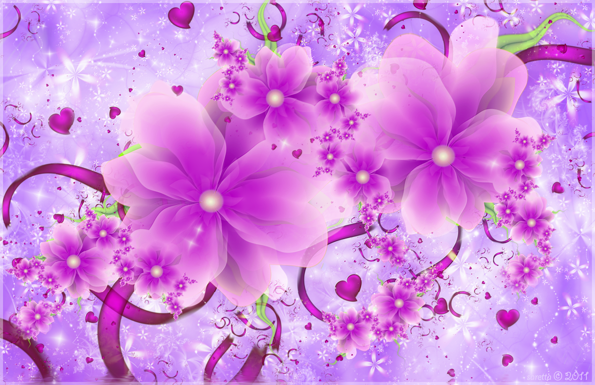 WnP: Wallpapers & Pictures: Pink Flower Romance Wallpaper
