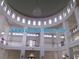 Kaligrafi Masjid, Harga Kaligrafi, Kubah Masjid Motif Awan, Dekorasi Dinding Masjid