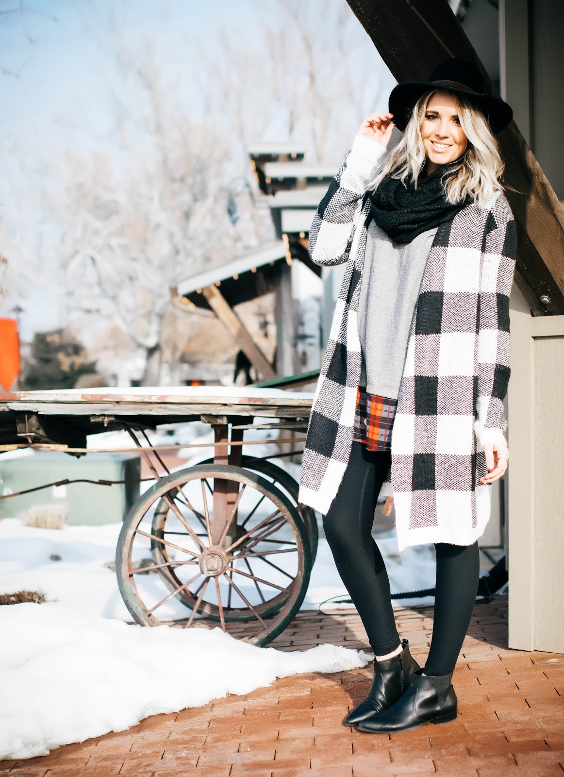 Plaid, Utah Fashion Blogger, Winter Outfit