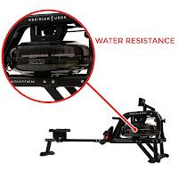 Obsidian Surge 500 Water Rower's flywheel/tank water resistance system