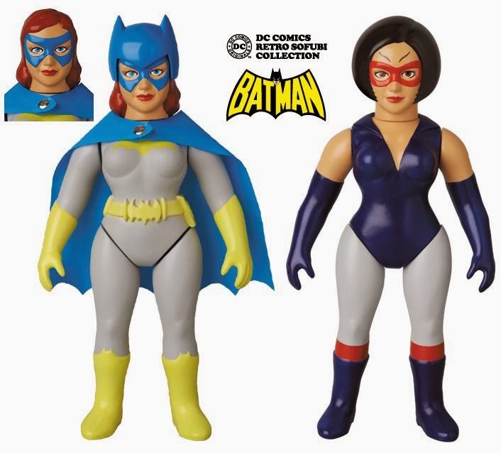 DC Comics Retro Sofubi Collection Wave 3 by Medicom - Batgirl & Catwoman