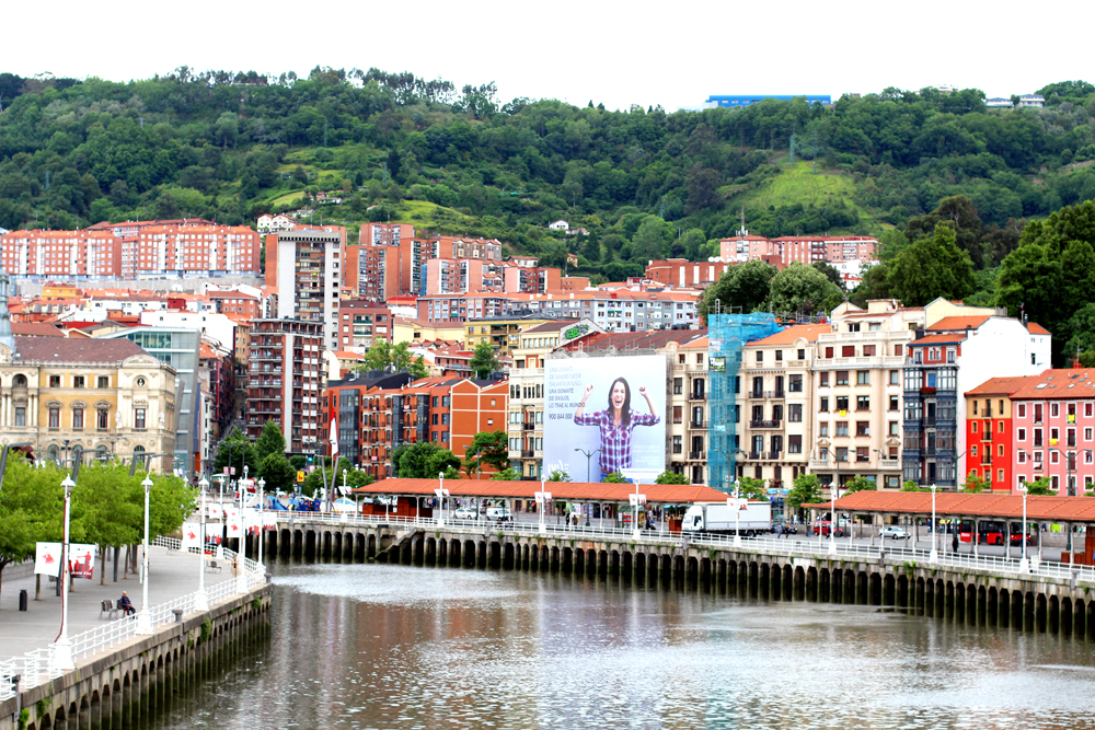 River in Bilbao, Spain - London travel blog