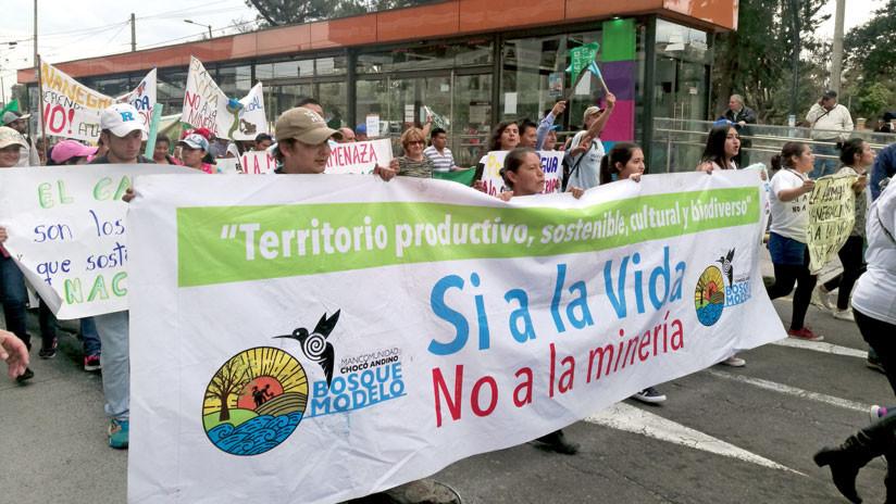 """""""No queremos minería"""": Marcha en #Ecuador para pedir el fin de las concesiones"""