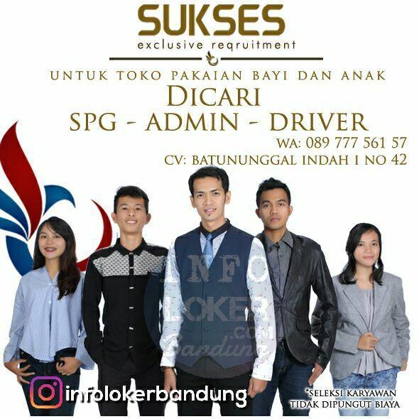 Lowongan Kerja Toko Sukses Bandung Oktober 2017