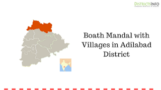 Boath Mandal with Villages in Adilabad District