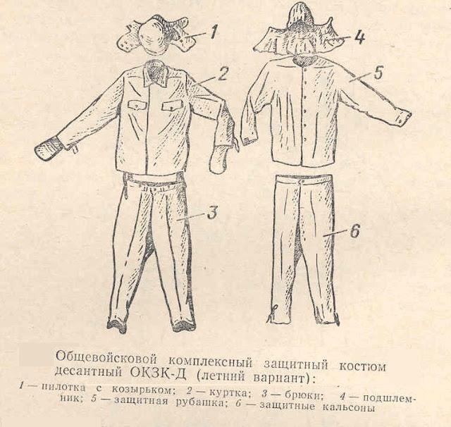 общевойсковой комплексный защитный костюм десантный (ОКЗК-Д) летний вариант