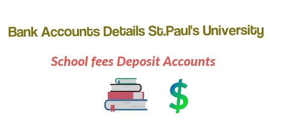 Fees deposit st Paul's university