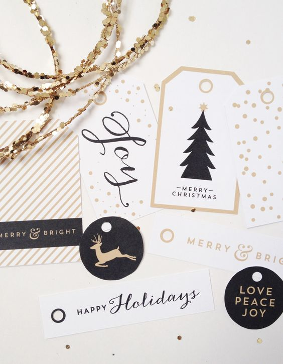 free printable holiday tags by creative index