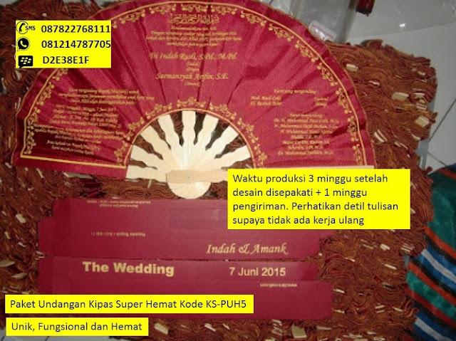 Undangan pernikahan kipas Harga Murah Meriah