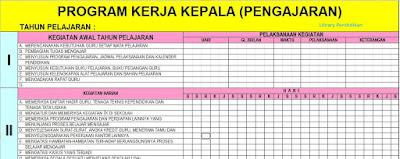 Download Program Kerja Kepala Sekolah/Madrasah Terbaru