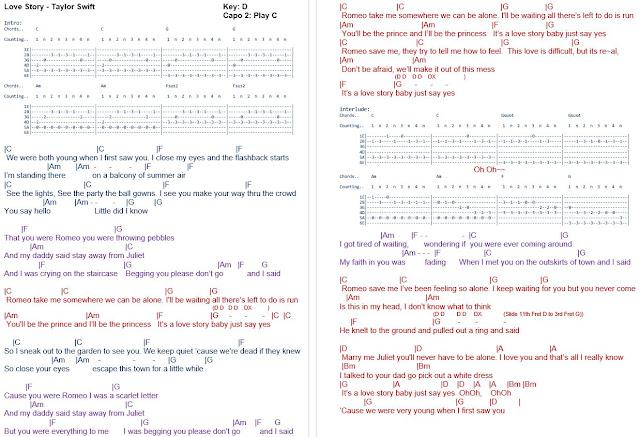 TalkingChord.com: Taylor Swift - Love Story (Chords)