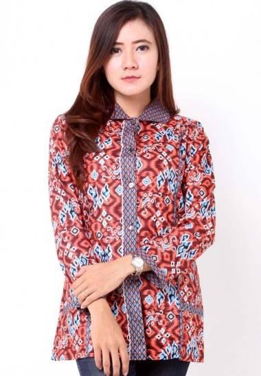 10 Model Baju Batik Wanita Lengan Panjang Terbaru 2017