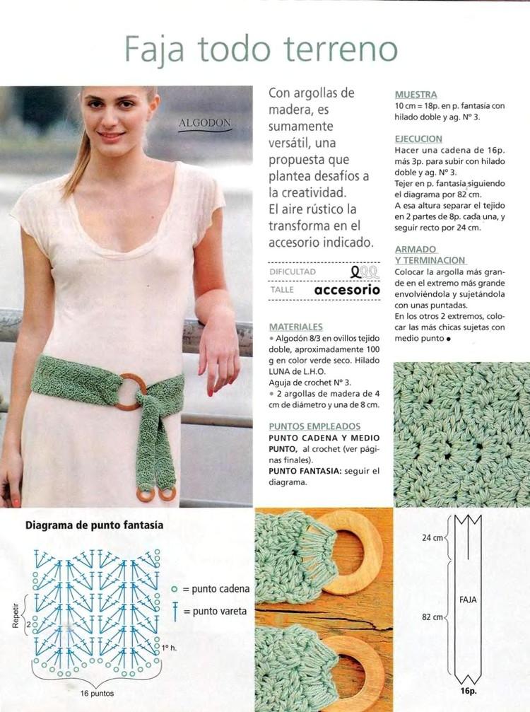 2 Patrones Crochet Cinturones