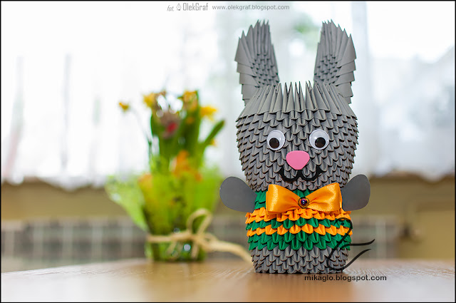 562. Królik z origami / 3d origami bunny