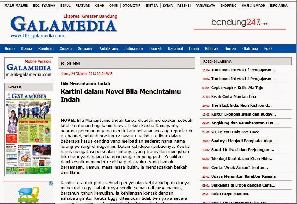 Kartini dalam Novel Bila Mencintaimu Indah