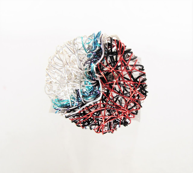 contemporary art ring, art jewelry