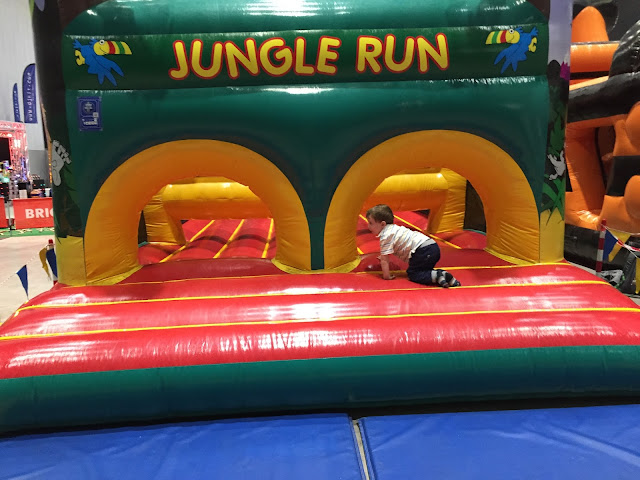 A Jungle Run Inflatable Obstacle Course