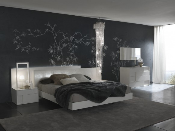 papier peint chambre adulte moderne. Black Bedroom Furniture Sets. Home Design Ideas