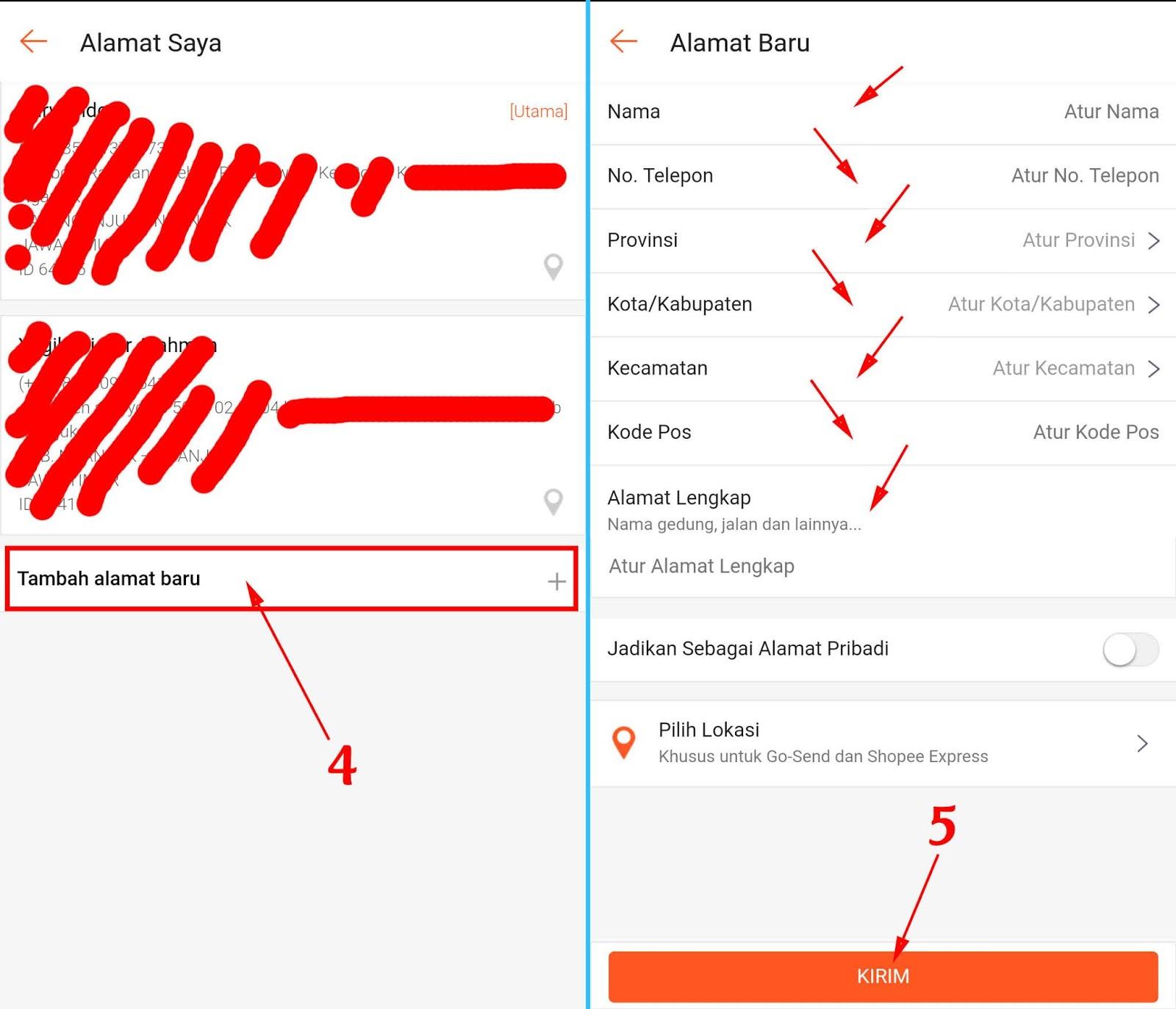 Cara Menambahkan Alamat Rumah Di Aplikasi Shopee Espada Blog