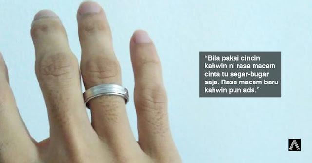 Isteri rasa bahagia bila tengok suami pakai cincin kahwin