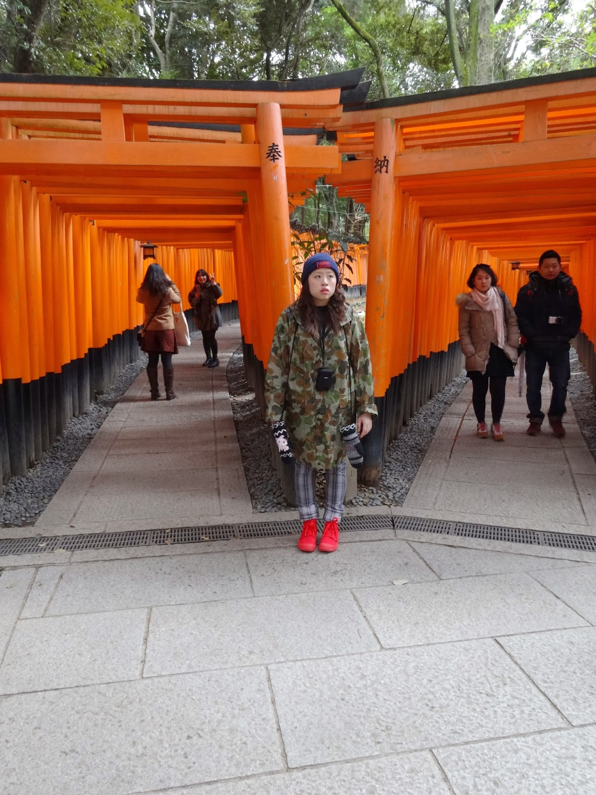 Rainie at the Fushimi Inari Shrine in Kyoto