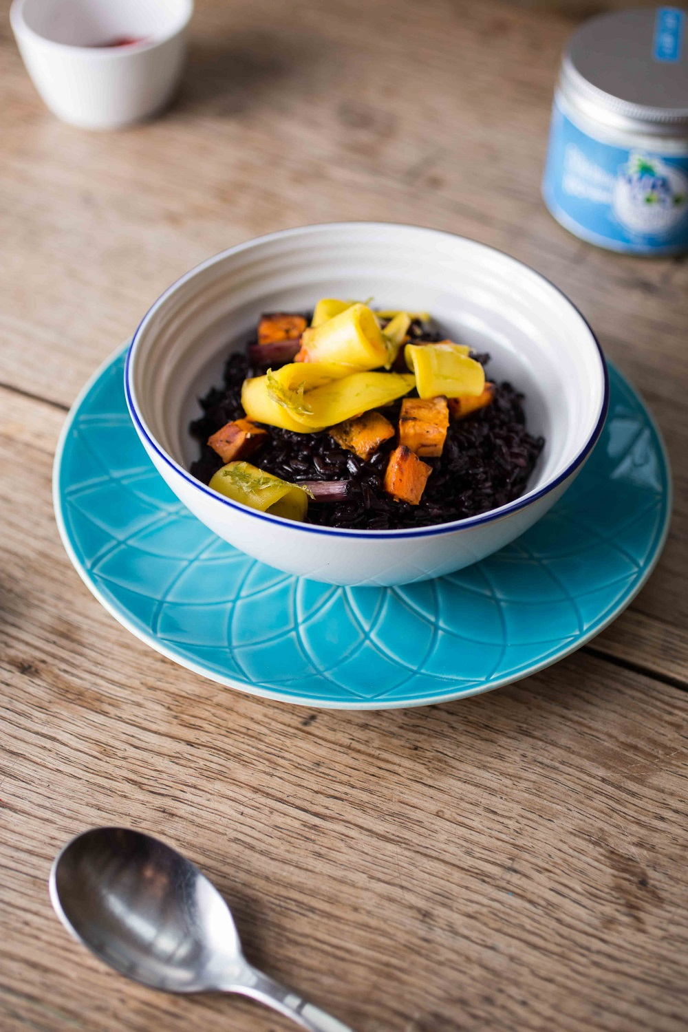 Sticky Coconut Black Rice With Mango And Lime.