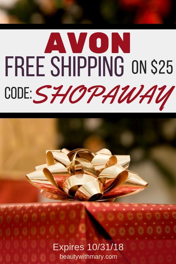 Avon Free Shipping $25 October 2018 #Avon #AvonRep #ShopAvon #AvonFreeShipping #AvonCouponCode #AvonCoupons