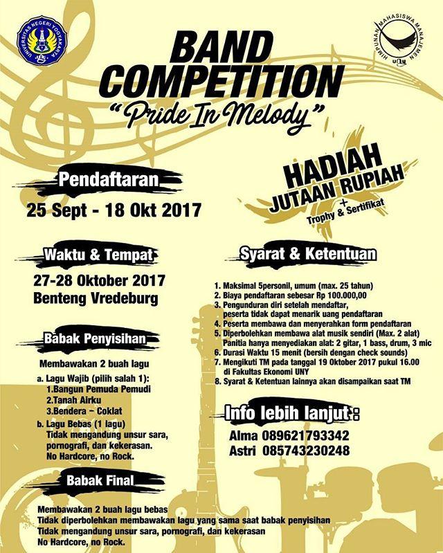 Band Competition Pride in Memory 2017 | Univ. Negeri Yogyakarta | Mahasiswa
