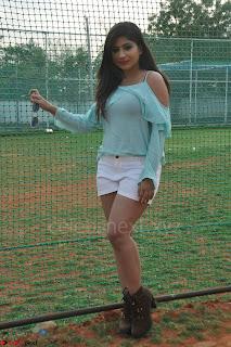 Madhulagna Das looks super cute in White Shorts and Transparent Top 22.JPG