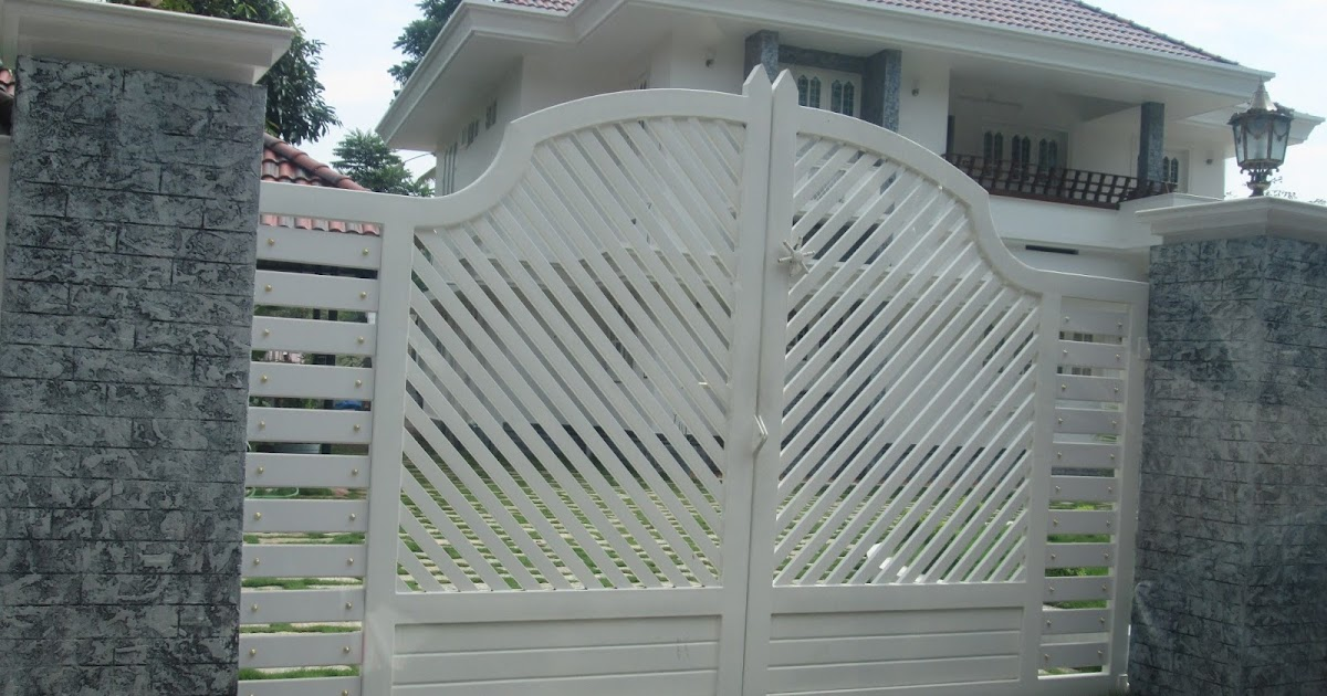 Home Design Gate Ideas: Kerala Gate Designs: Another White Color Gate In Kerala
