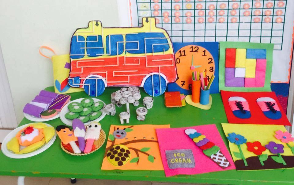 Hình ảnh đồ dùng đồ chơi tự tạo mầm non