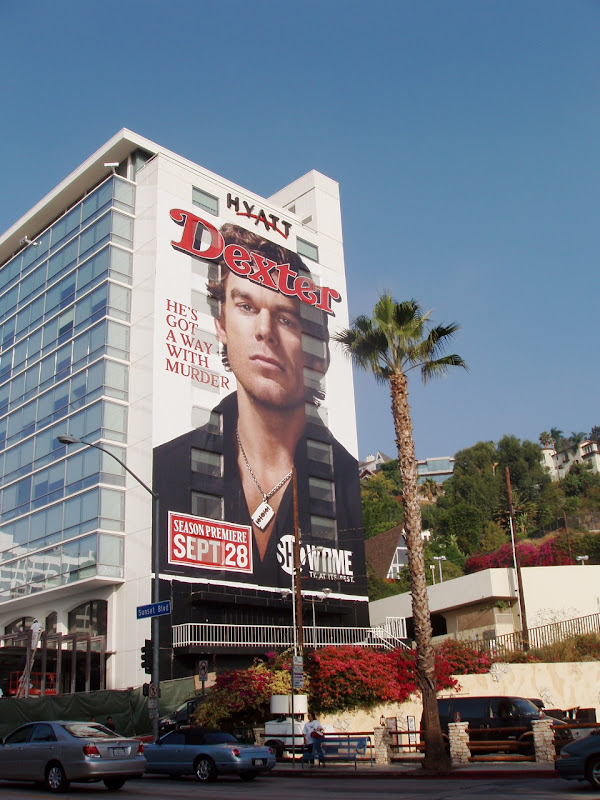 Giant Dexter season 3 billboard Sunset Strip