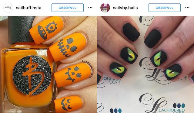 halloweenowe paznokcie