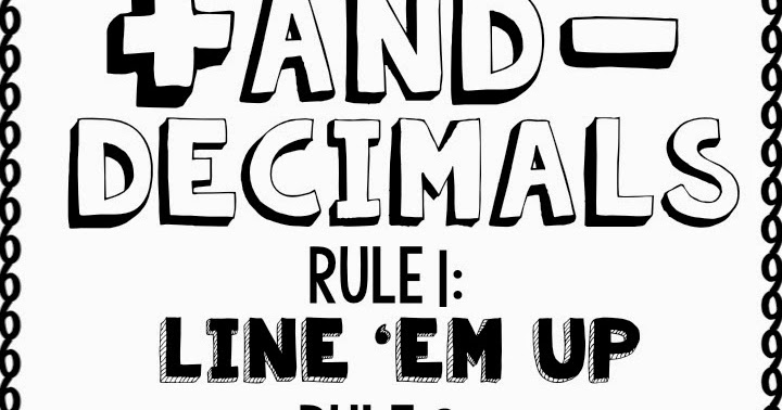 Adding and Subtracting Decimals Chant {with a free poster}