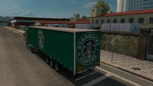 Starbucks MAN TGX skin + trailer
