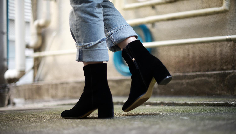 FOREVERVANNY MGemi Velvet Corsa Ankle Boots