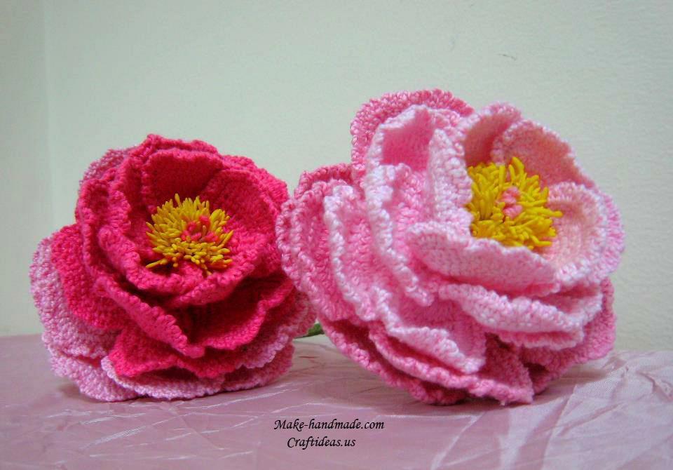 ergahandmade  Crochet Flowers  Diagrams