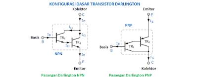 Pengertian Transistor Darlington dan Cara Konfigurasi Dasarnya