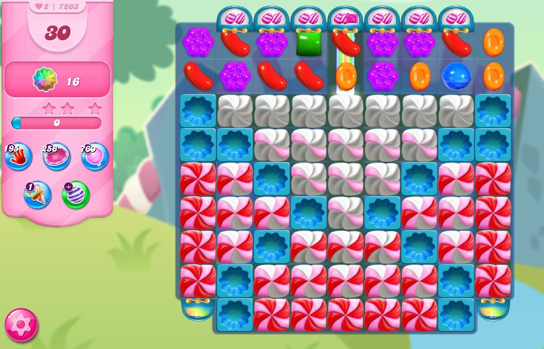 Candy Crush Saga level 7263