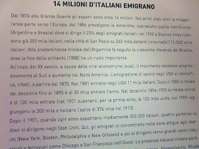 Museu da emigração italiana - Roma - Itália