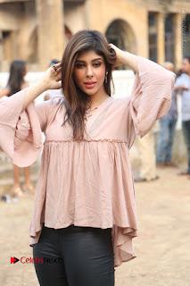 Telugu Actress Aditi Singh Stills in Leather Pants at Nenu Kidnap Iyanu Movie Press Meet  0059.JPG