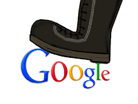 EU jackboot on Google
