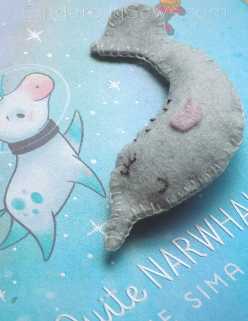 This narwhal softie is an easy beginner sewing project for adults and children alike! Learn to sew this gift with or for your child in half and hour or less! Perfect homeschooling project or afternoon bonding activity