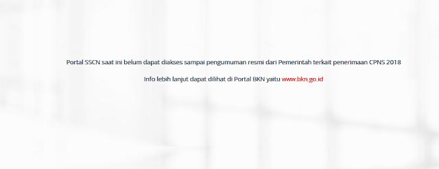 sscn.bkn.go.id ( website SSCN ) Portal Pendaftaran CPNS 2018